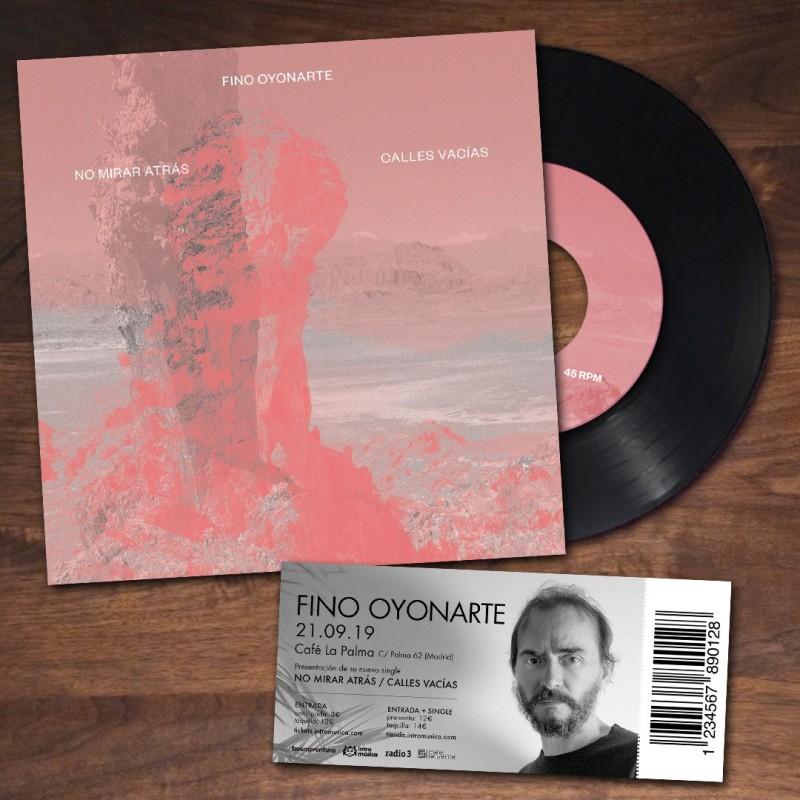 """Fino Oyonarte: Single """"No Mirar Atrás /  Calles Vacías"""" + Entrada presentación en Café Berlín (Madrid)"""