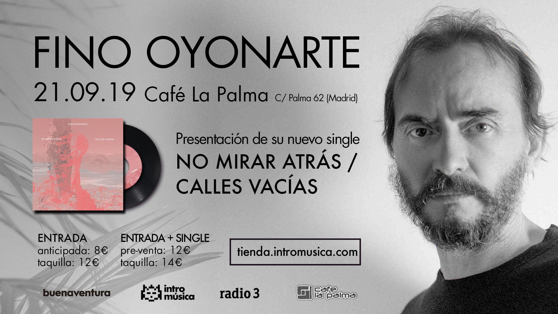 Fino Oyonarte en directo en Madrid